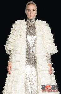 Высокая мода Валентино зима 2020-2021 - узкий капюшон
