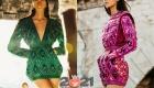 Яркие короткие платья Balmain - высокая мода 2021 года