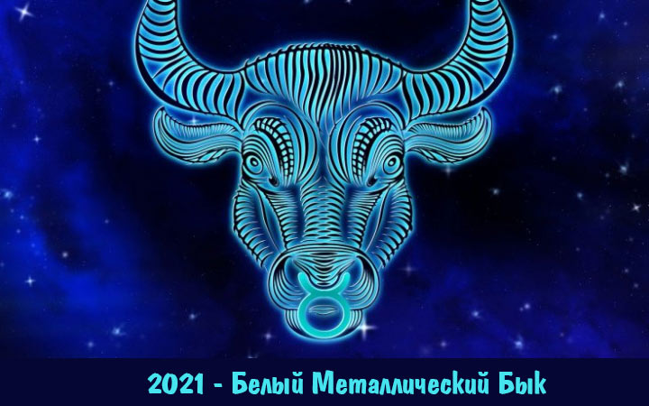 2021 год - год Белого Металлического Быка