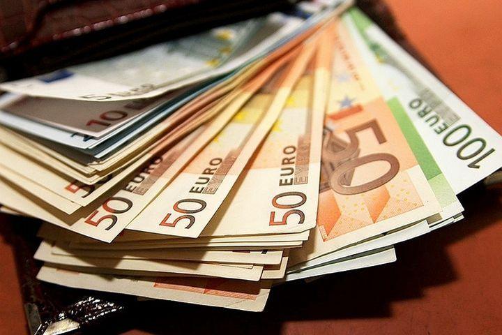 Евро в кошельке