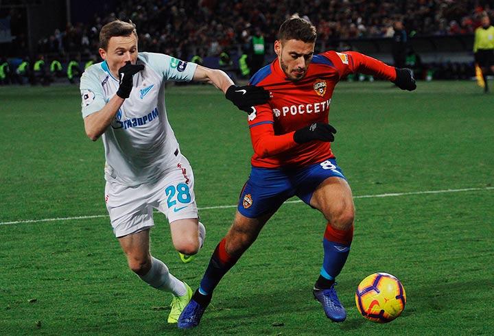 Игроки «ЦСКА» и «Зенит»