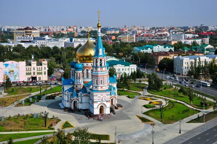 Соборная площадь в Омске