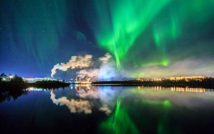 Северное сияние в Карелии - что посмотреть на Новый Год 2021
