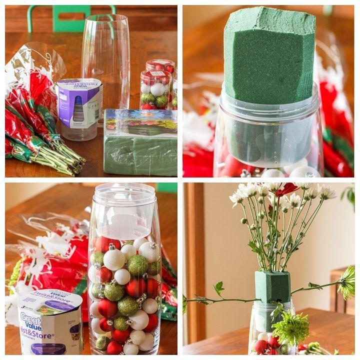 Изготовление новогоднего букета