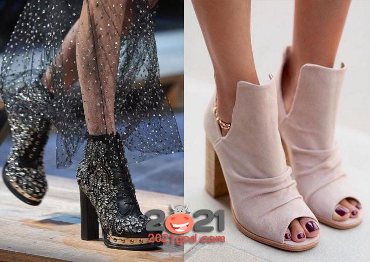 Модная обувь для вечернего лука зимой 2020-2021 года