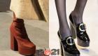 Модные туфли на платформе - тренды 2021 года