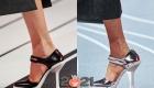 Туфли Прада 2021 года на каблуке и в спортивном стиле
