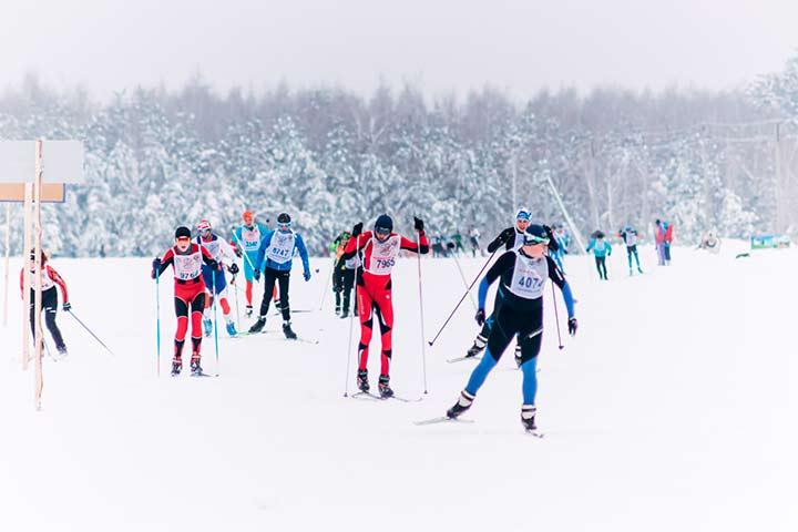 Лыжники фото