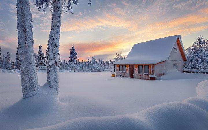 Погода зимой на севере России в 2021 году