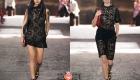 Черные ажурные платья сезона весна-лето 2021