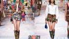 Модные мини юбки Dolce & Gabbana весна-лето 2021