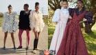 Платья с объемными рукавами весна-лето 2021