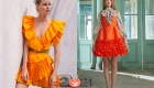 Модные апельсиновые платья весна-лето 2021