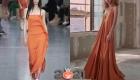 Модные теракотовые платья весна-лето 2021