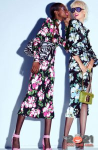 Модные платья весна-лето 2021 с цветочным узором
