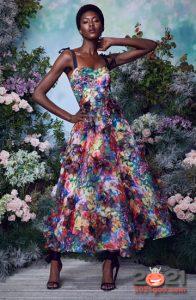 Модные вечерние платья на лето 2021 с цветочным прнтом