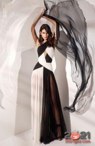 Модные черно-белые платья весна-лето 2021
