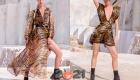 Модные тигровые платья весна-лето 2021