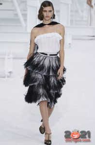 Модные монохромные платья весна-лето 2021