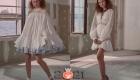 Белое платья беби-долл весна-лето 2021