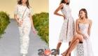 Ажурные платья весна-лето 2021 белого цвета