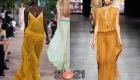 Длинные прозрачные платья весна-лето 2021