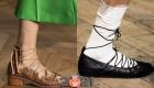 Модные туфли сезона весна-лето 2021 года со шнуровкой