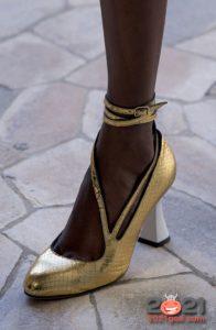 Модные туфли с узкими ремешками на весну и лето 2021 года
