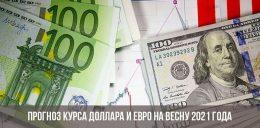 Курс евро и доллара на весну 2021